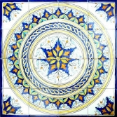 """Bathroom tiles design, exotic hand painted design on ceramic tiles and mosaic mural for your bathroom decor."""
