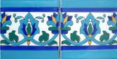 """Mediterranean border tiles, accent decorative tiles for showers, bath tubs, hot tubs, mantels, door surround."""