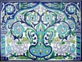 """Wall bathroom tiling decor, hand painted wall bathroom ceramic tiles imported from the Mediterranean."""